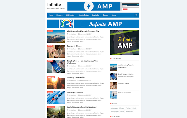 Infinite AMP Responsive Blogger Template