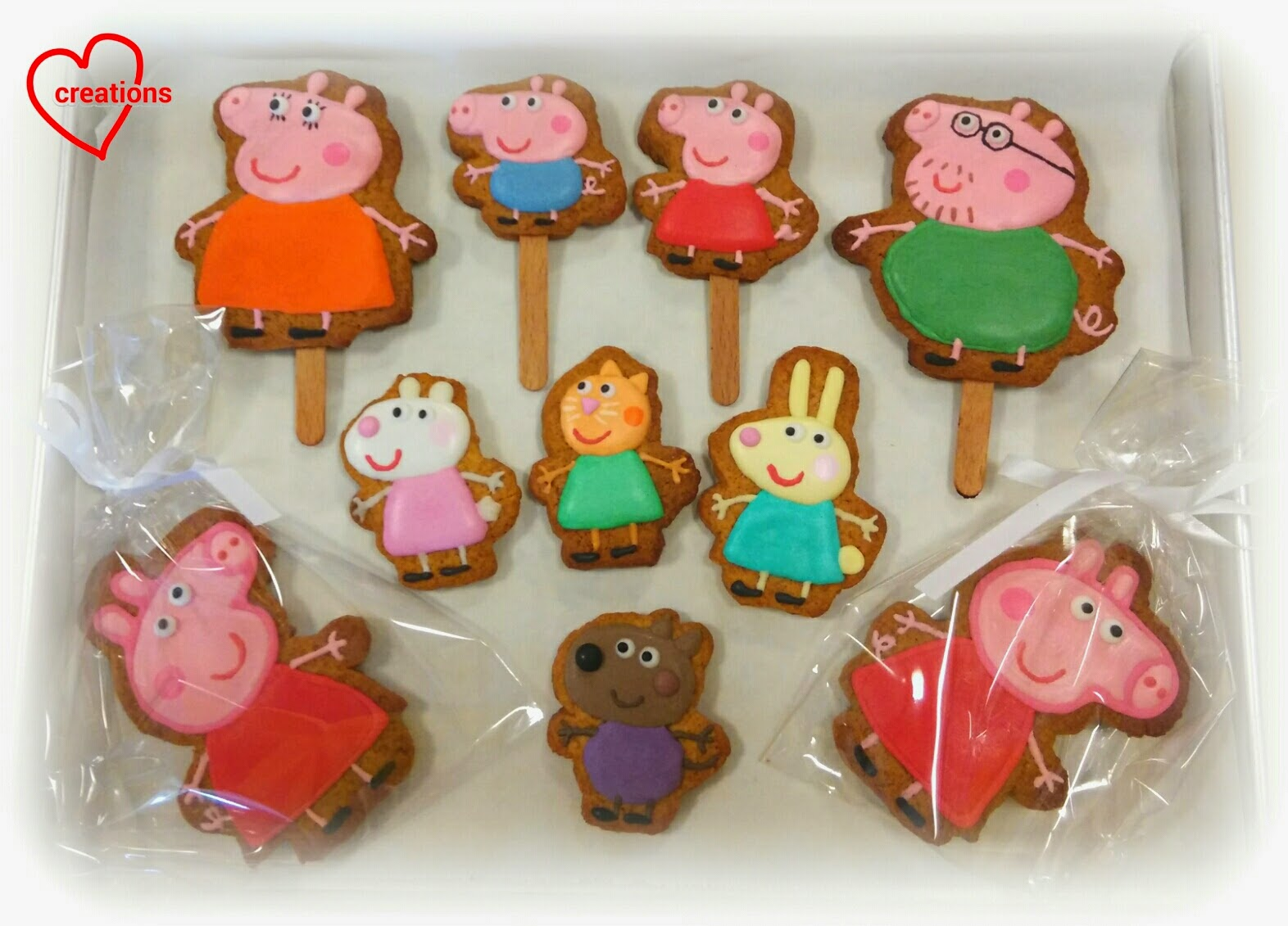 Loving Creations For You Peppa Pig Family Friends Brown Sugar Cookies