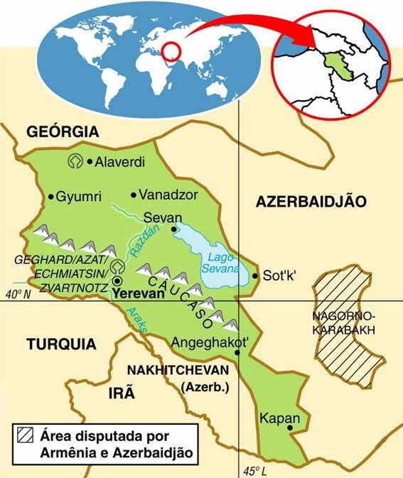 ARMÊNIA - ASPECTOS GEOGRÁFICOS E SOCIAIS DA ARMÊNIA