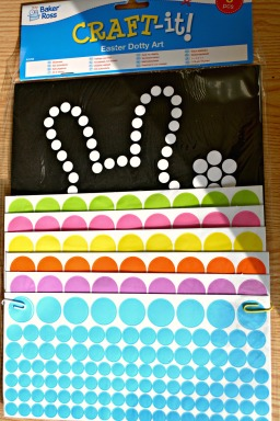 Easter Dotty art from Baker Ross @ ups and downs, smiles and frowns
