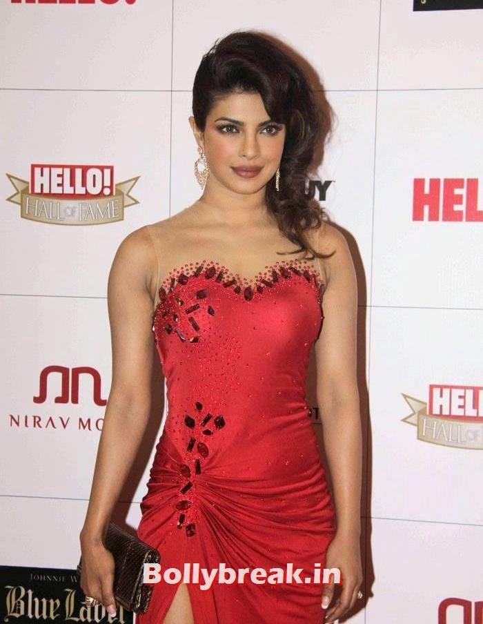 Priyanka Chopra, Kangana Ranaut, Priyanka Chopra sizzle at Hello Awards 2013