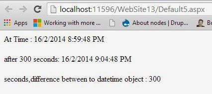 DateTime difference in seconds in C# Programming