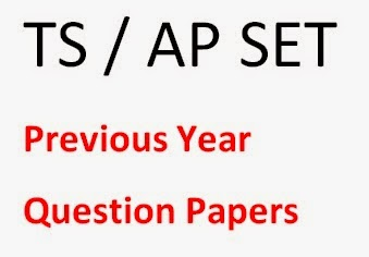 AP/ TS SET Previous Year Question Papers