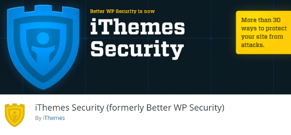 iThemes WordPress Security Plugin