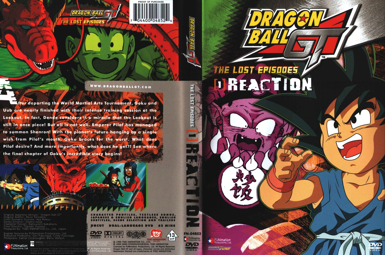 Capa DVD Dragon Ball GT The Lost Episodes D1 A D5