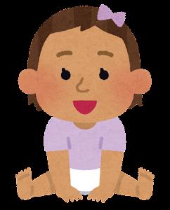 赤ちゃんのイラスト(東南アジア人・女)