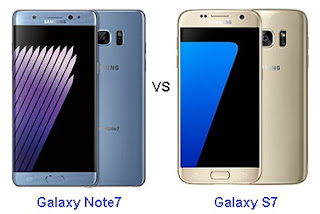 Perbandingan Samsung Galaxy Note7 vs Galaxy S7