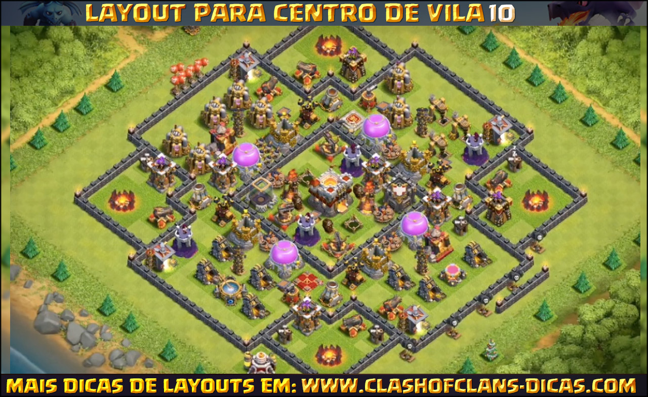 layouts para cv10 em clash of clans