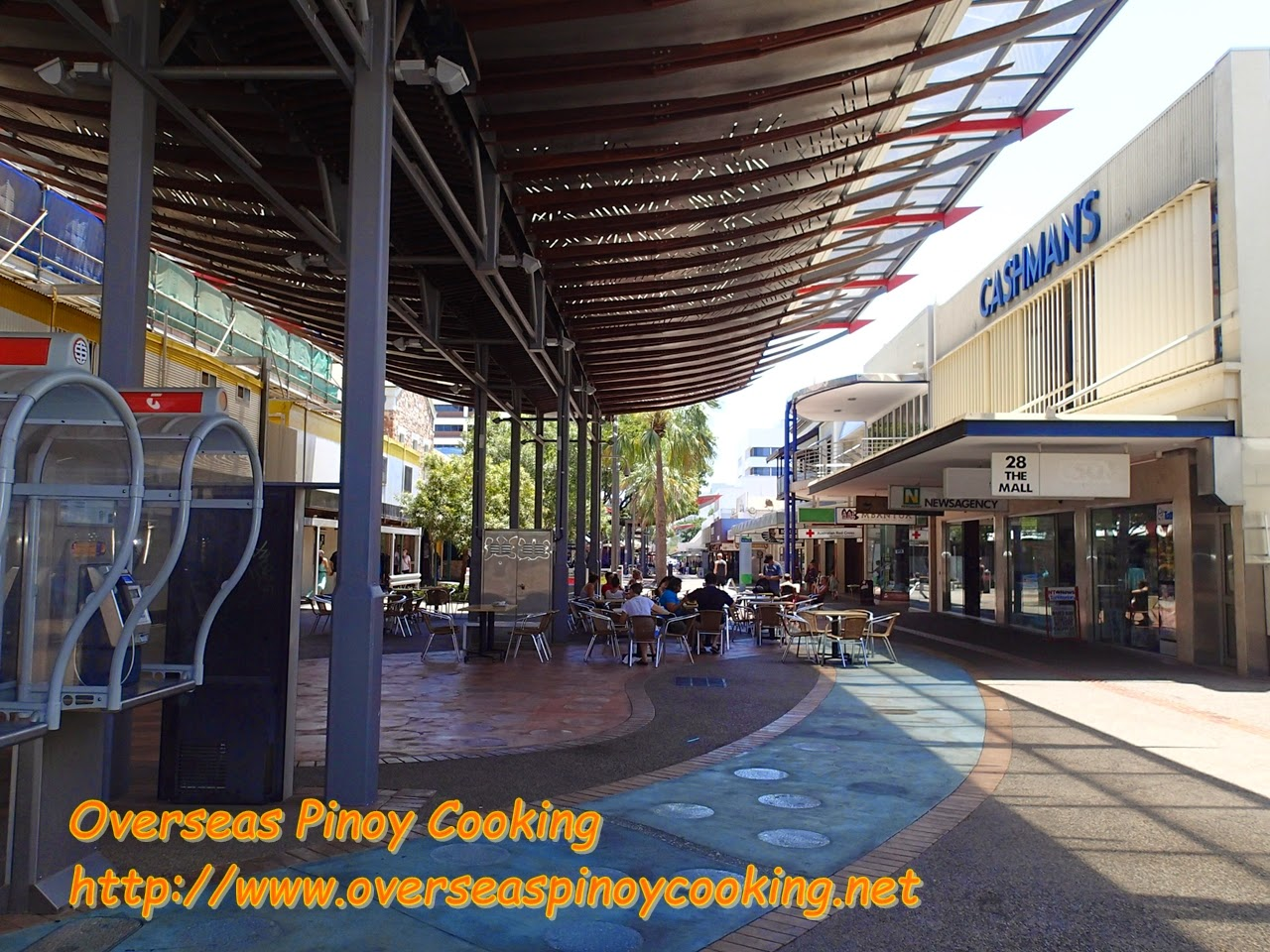 Darwin Australia Center, Street Mall, Restaurants