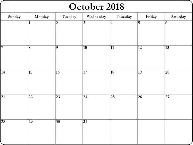 A4 sheet for October 2018