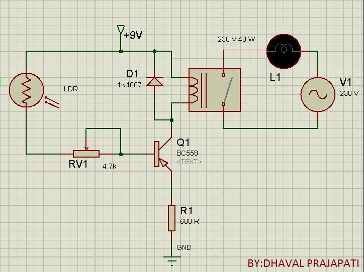 Street Light Control Circuit Automatic Street Light Control Circuit