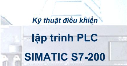 Giáo trình lập trình PLC Simatic S7-200
