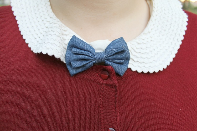 A Vintage Nerd, Vintage Inspired Fashion, Vintage Blog, Casual Vintage Look, Bow Tie Fashion