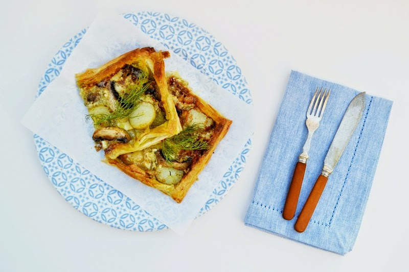 Brie, Potato and Mushroom Tart
