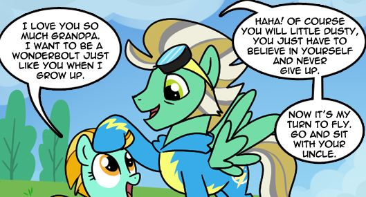 Equestria Daily - MLP Stuff!: Comic: Lightning Dust Origins