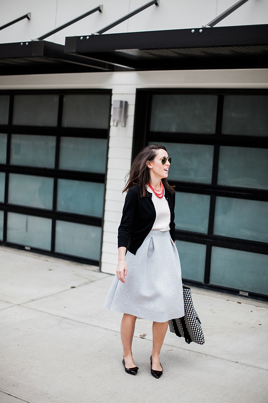 Here&Now: teacher style, midi skirt