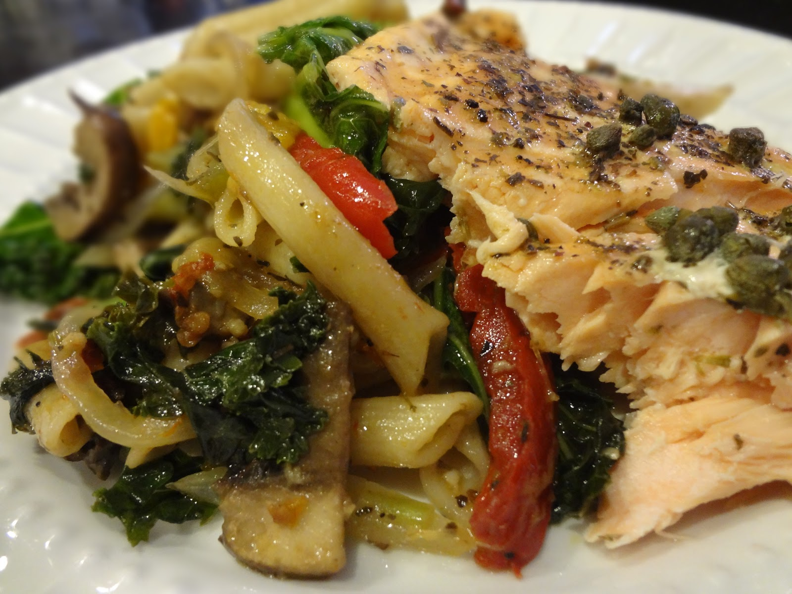 The Gluten Free Wife Oven Baked Salmon With Penne Primavera