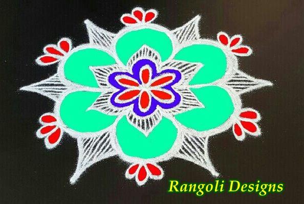 Simple Rangoli Designs Images 2017