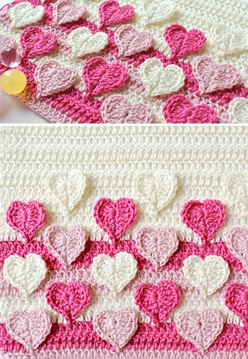 Hearts Multicolored - Free Pattern