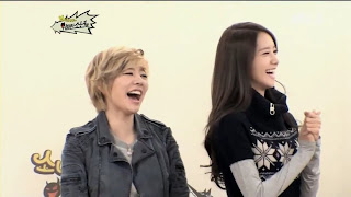 Sunny and Yoona laughing smile