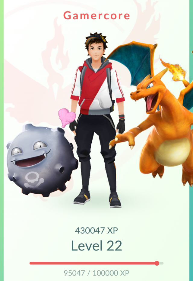 Top 3 Pokemon next to avatar along with profile export options