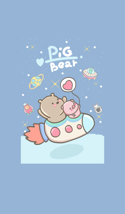 pig and bear (go to space4)
