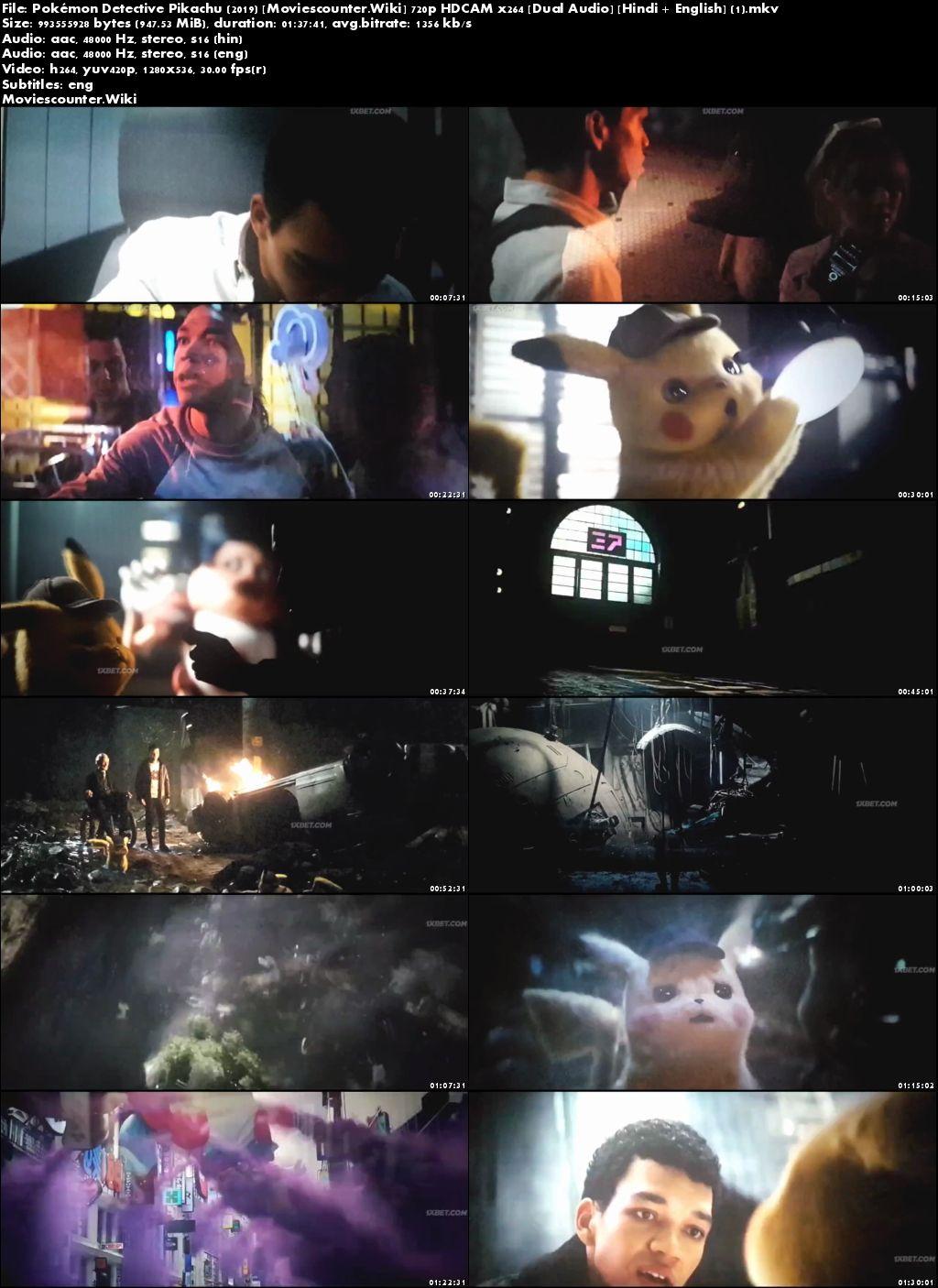 Screen Shots Pokémon Detective Pikachu 2019 Dual Audio HD 720p