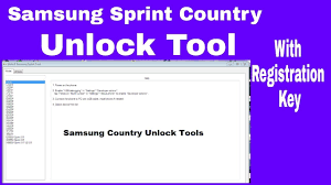 Samsung sprint country unlock tool