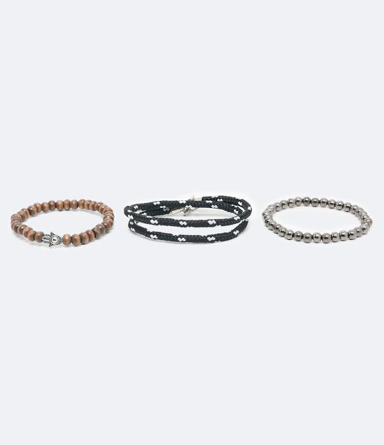 Kit com 3 pulseiras masculinas