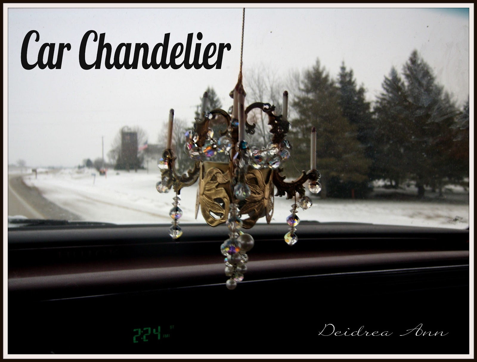 Feeling A Bit Under The Weather But I Still Felt Need To Accomplish Little Somethin Really Wanted Chandelier For My Car