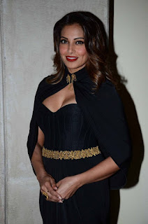 Bipasha Basu Latest Stills in Black Long Dress at Geospa Asiaspa Awards 2016