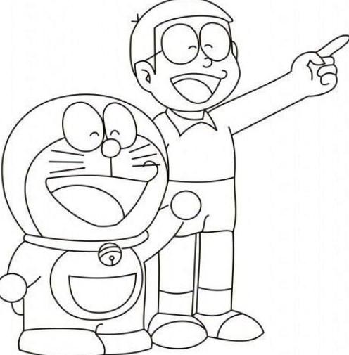Sketsa Anime Doraemon