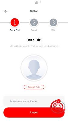 Nah nanti kita akan disuruh memasukan Data diri kita untuk Nama di aplikasi LinkAja. Untuk nama profil di LinkAja usahakan sesuai dengan nama yang ada di KTP ya