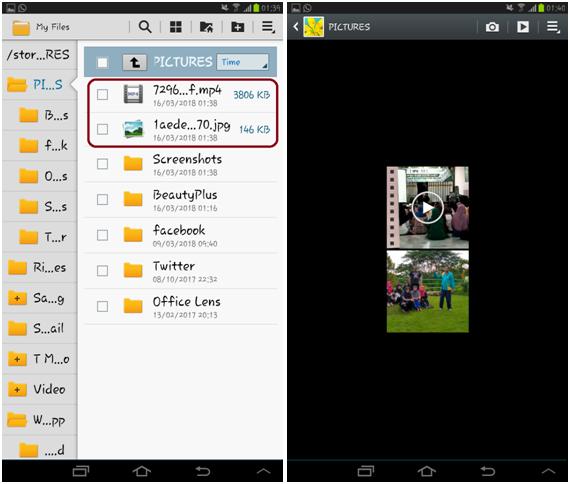 Cara save foto/video status story WhatsApp