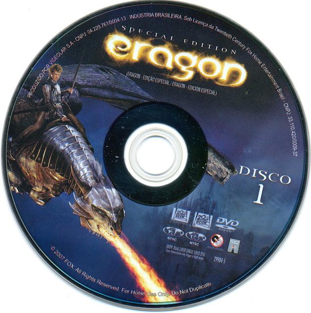 Label DVD Eragon Edição Especial Disco 1