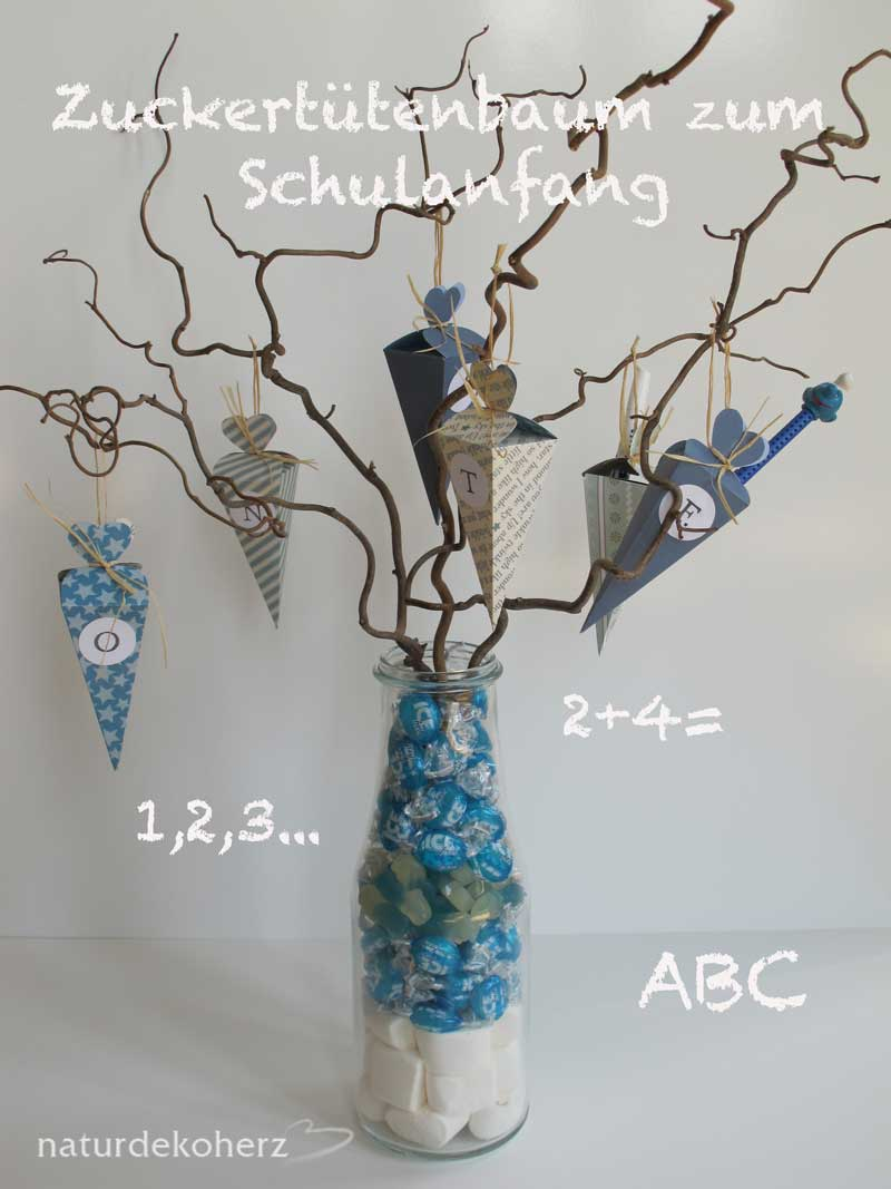 naturdekoherz mini zuckert tenbaum diy zum schulanfang. Black Bedroom Furniture Sets. Home Design Ideas
