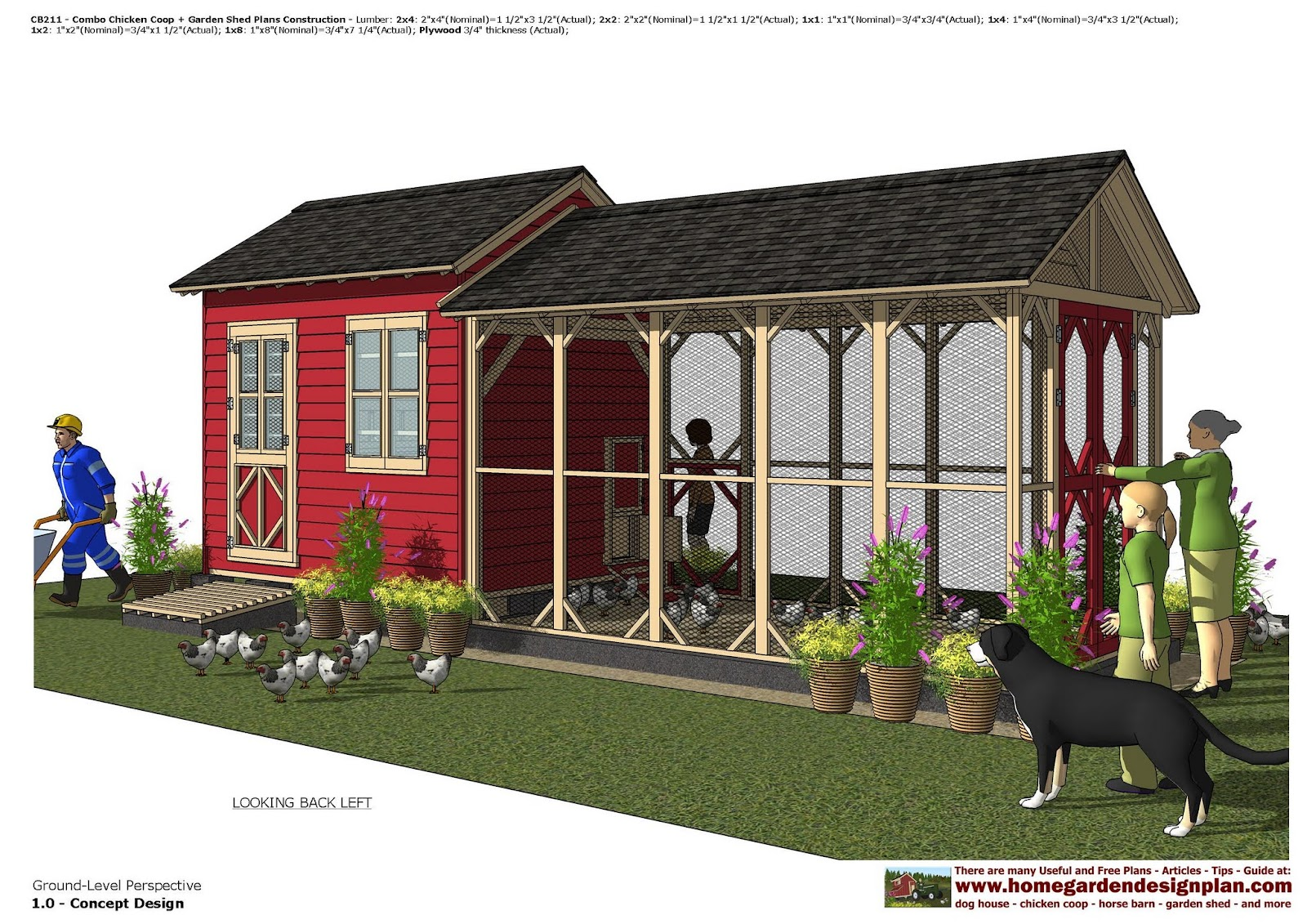 Garden Sheds 2 X 3 home garden plans: cb211 _ combo chicken coop + garden shed plans