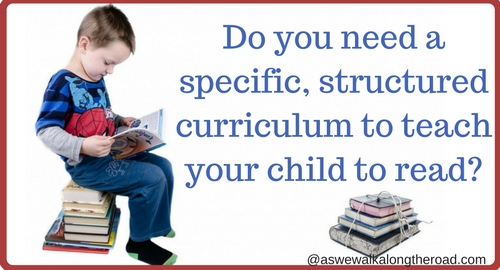 Teaching your child to read without a curriculum