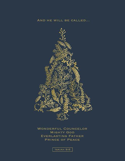 Printable Christmas Card Isaiah 9