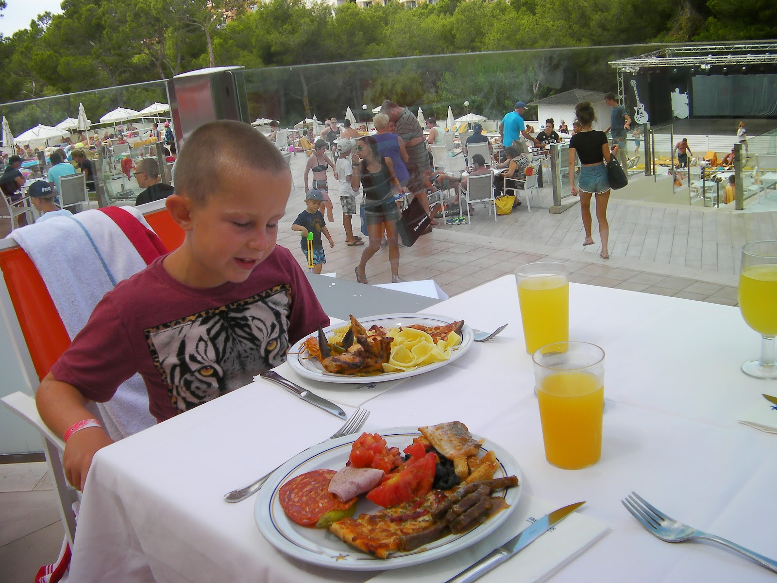 iberostar cala barca mallorca terrace all inclusive buffet meal