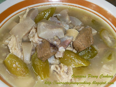 Sinanglao, Beef Innards Bile and Kamias Flavored Soup