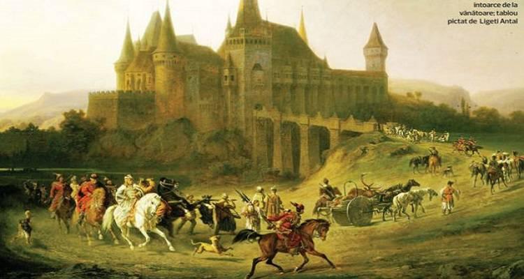 Întoarce de la vânătoare, tablou pictat de Ligeti Antal