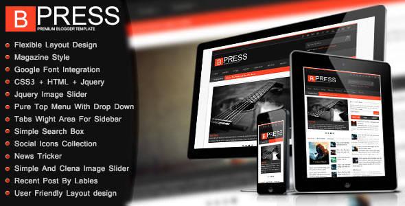 Bpress - Fully Responsive Blogger Template