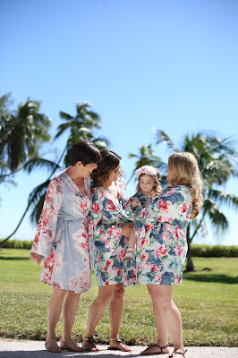 wedding robes on the lawn at casa ybel resort