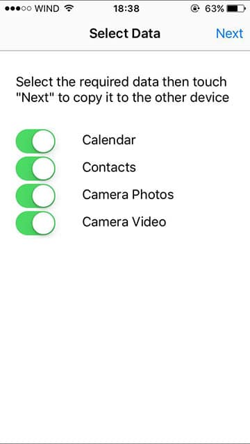 android iphone medya aktarımı