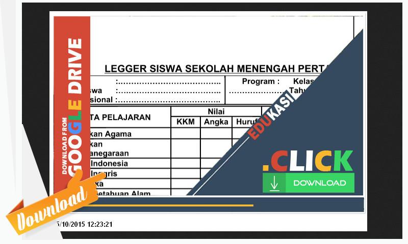 Berbagi File : Download Buku Dan Legger Siswa SD, SMP, SMK, SMA, MI, MA, MTs, Paling Baru