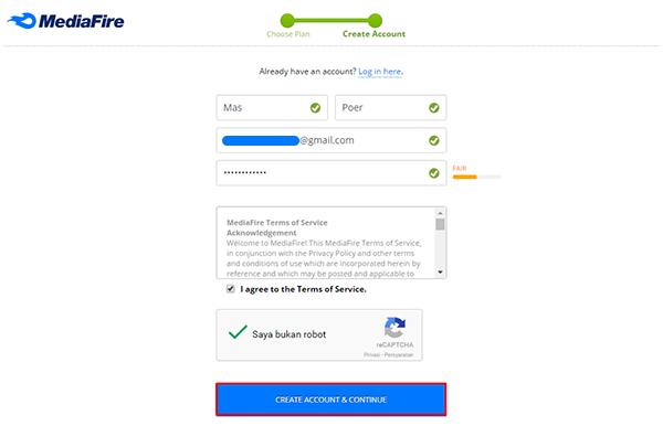 Cara Daftar dan Upload File di Mediafire Terbaru 3
