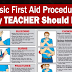 First Aid Procedures Teachers Should Know