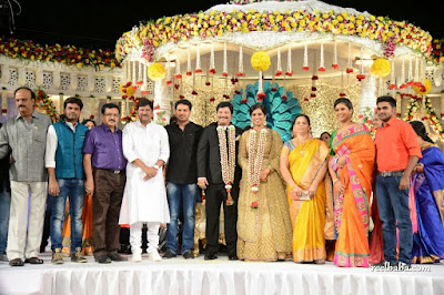 guests in Rajendra Prasad Son Reception