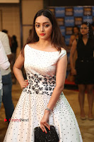 Actress Pooja Salvi Stills in White Dress at SIIMA Short Film Awards 2017 .COM 0082.JPG